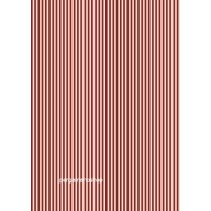 Parchment paper stripes velvet red 61615