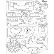 Clear stamp ribbon bows