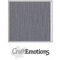 CraftEmotions linnenkarton 10 vel graniet grijs LHC-74 A4 250gr