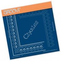 Groovi Grid Piercing Plate A5 CHARLES LACE FRAME CORNER DUET
