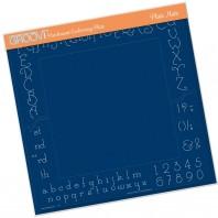 Groovi Plate  ALPHABET & NUMBERS A4 Plate Mate