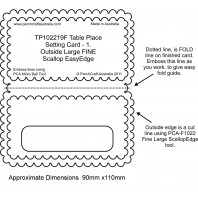 PCA EasyEmbossing Fine Table Place Setting Card 1 TP102219F