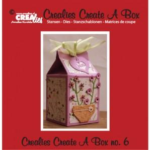 Crealies Create A Box no. 6 milk carton 14,0 x 16,2 cm / CCAB06