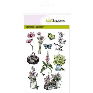 CraftEmotions clearstamps A6 - kruiden mand, kistje Life and Garden (new 03-16)