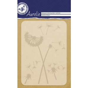Aurelie embossing folder Dandelion Whisper Background