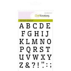 Clear Stamp Alphabets A6