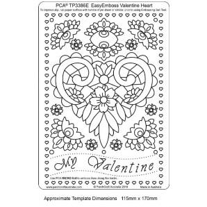 PCA EasyEmbossing Template Valentine Heart TP3386E