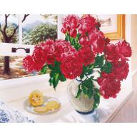 DIAMOND DOTZ Roses by the Window DD12.013