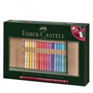 Faber Castell Polychromos Farbstifte in Bleistiftrolle (34 Stück)