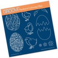 Groovi Plate ORNATE EGGS & CHICKS