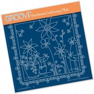 Groovi Plate A5 TINA'S FLORAL DELIGHT - SUNFLOWER GRO-FL-41331-03
