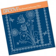 Groovi Plate A5 TINA'S FLORAL DELIGHT - PRIMROSE GRO-FL-41332-03