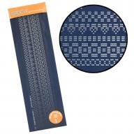 Groovi Plate Straight Border Pattern Piercing Grid 1