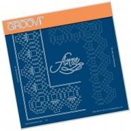 Groovi Grid Piercing Plate A5 ANNE LACE FRAME CORNER DUET