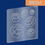 Groovi Plate Peonies