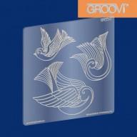Groovi Plate Three Doves