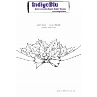 IndigoBlu Stamp Holly Bow A6