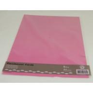 Perkamentpapier Parchment Cards  Pink
