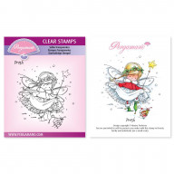 CLEAR STAMP A6  CHRISTMAS POPPETS - PRESH