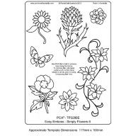 PCA EasyEmbossing Template Simply Flower 6 TP3280E