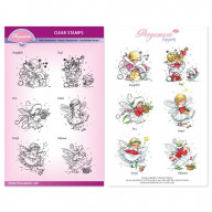 CHRISTMAS MINI POPPETS A5 STAMP SET