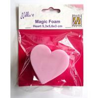 Nellies Choice Mixed Media Magic Foam heart shape NMMF006 5cmx5,6cm thick 3cm