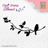 Nellie's Choice Clearstamp - Silhouette birdsong 1 SIL005