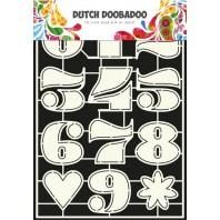 Dutch Doobadoo Dutch Stencil Art Nummers 2  A4 470.455.006