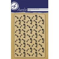 Aurelie Transparent Stempel Hintergrund-Fisch-Knochen
