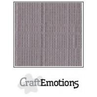 CraftEmotions linnenkarton 10 vel zilvergrijs LHC-73 A4 250gr