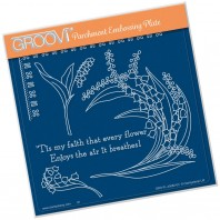 Groovi Plate LILY OF THE VALLEY A5