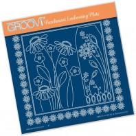 Groovi Plate  TINA'S DAISY FRAME & DANDELION  A5