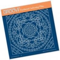 Groovi Plate  TINA'S SYMMETRICAL FLORAL ROUND A5