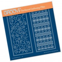 Groovi Plate  FLORAL LAYERING PANEL A5