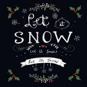 CraftEmotions servetten 5st - Let it snow 33x33cm Ambiente 33305165