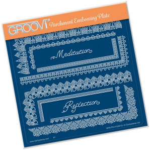 Groovi Plate A5 TINA'S SPIRITUAL MEDITATION BORDER 41528