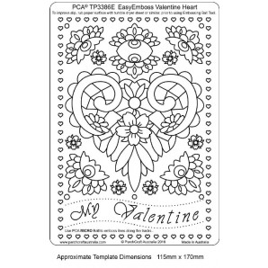 PCA EasyEmbossing Template Valentine Heart TP3386E