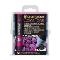 Chameleon Color Tops Floral Tones
