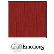 CraftEmotions linnenkarton 10 vel donkerrood LHC-39 A4 250gr