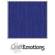 CraftEmotions linnenkarton 10 vel safierblauw LHC-56 A4 250gr