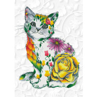 DIAMOND DOTZ Flower Puss DD13.021