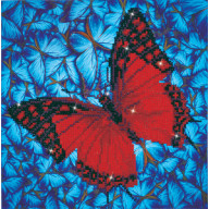 DIAMOND DOTZ Flutterby Red DD5.020