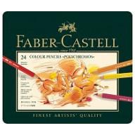 Faber Castell Crayons de couleur Polychromos etui a 24