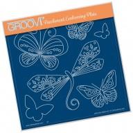 Groovi Plate TINA'S DRAGONFLY FUN      A5