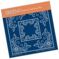 Groovi Plate A6 TINA'S MORNING GLORY FLOWER PARCHLET