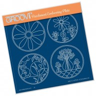 Groovi Plate  SUMMER LAYERING CIRCLES  A5