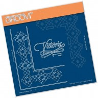 Groovi Grid Piercing Plate A5 VICTORIA LACE FRAME CORNER DUET