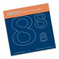Groovi Plate A6 Open Number 8