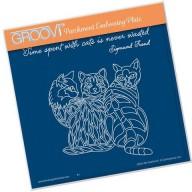 Groovi Plate 3 Cats