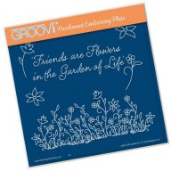 Groovi Plate Floral Grasses